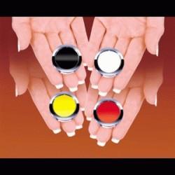 Poker Chip Polka- Black &...