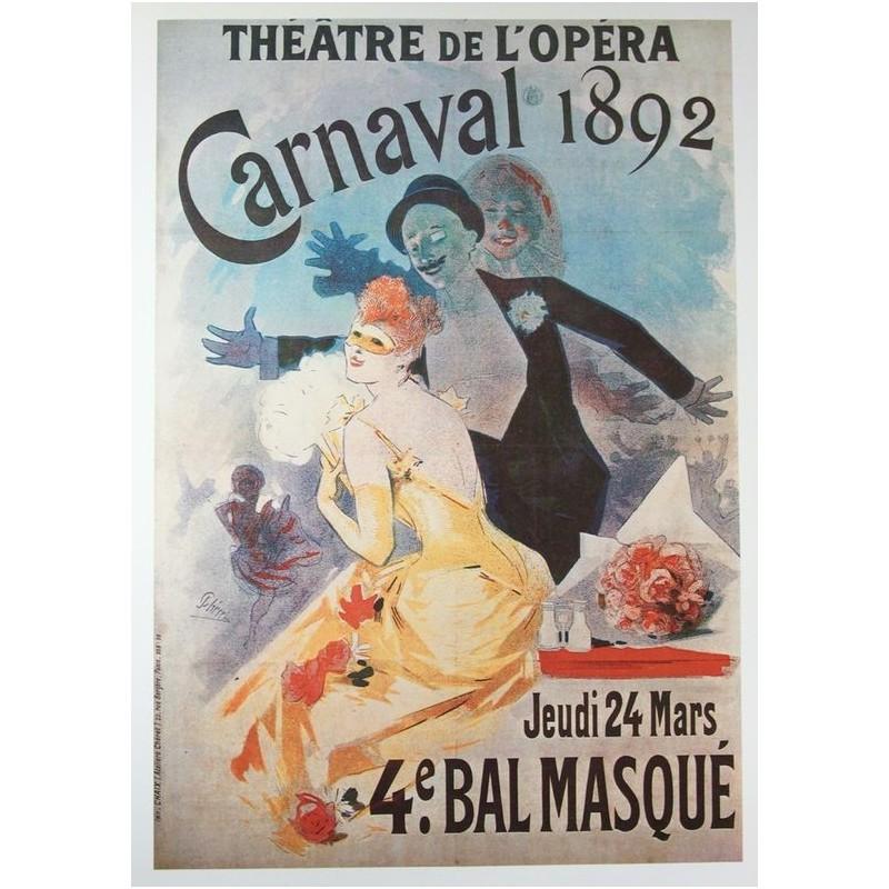 Théâtre de l'Opéra: Carnaval 1892 Poster