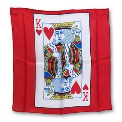 """Silk 18"""" King or Queen of Hearts Card"""