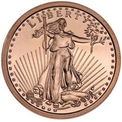 Saint Gaudens 1 oz Copper Coin