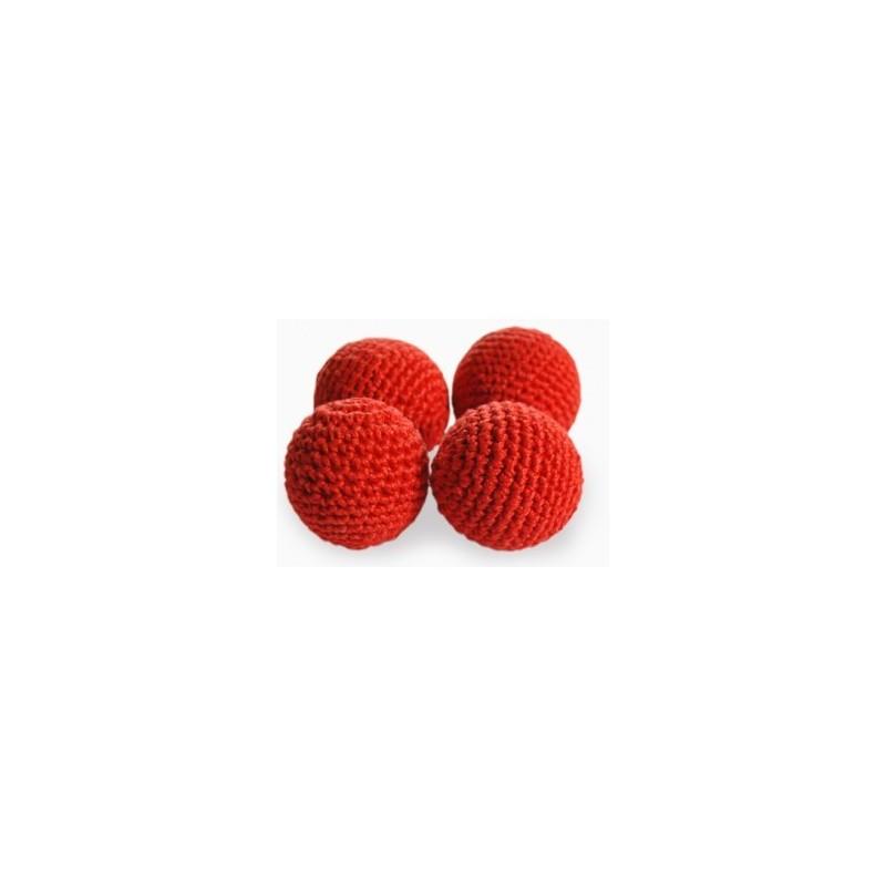 """1.5"""" Crochet Balls set of 4 ud"""