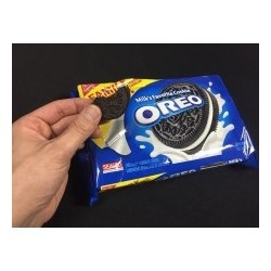 Biting Oreo Cookie