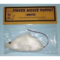 Finger Mouse Puppet white (Judy)