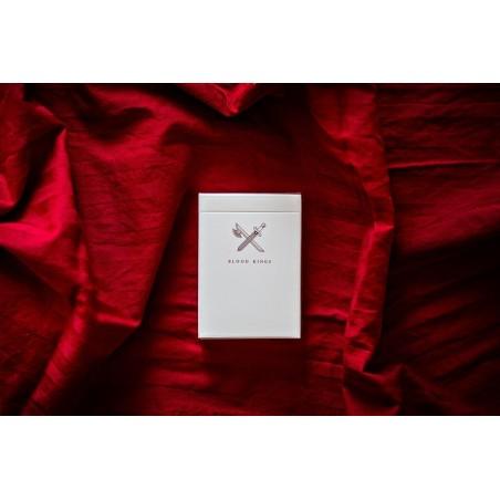 Kabuki - Tombée lente mylar argent et blanche ou Or et Blanche