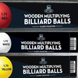 """Wooden Billiard Balls (1.75"""") by Classic Collections"""