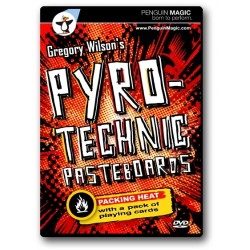 Pyrotechnic pasteboard
