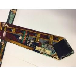 Vintage Neck Tie Americana Series Magic Show Circa 1894