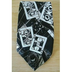 Snoopy Black & White Playing Card Neck Tie - Cravate