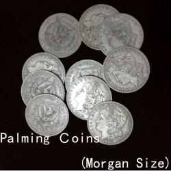Palming Morgan Dollar Replica (10 Coins) by Shawn Magic