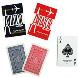 Aviator Cards Double Back - Red